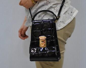 Vintage MESSENGER LEATHER BAG ....(098)