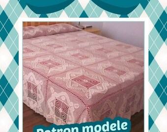 Model chic crocheted blanket for bed diagram and international chart in photo (not d written explanation) pdf format
