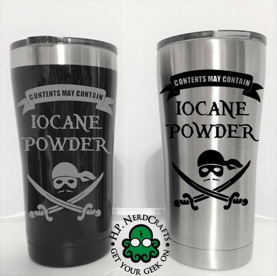 Princess bride tumbler, Iocane powder cup