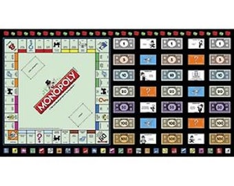 Monopoly Game Night Panel by Quilting Treasures