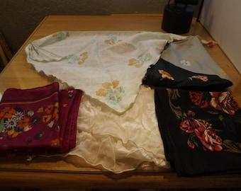 Five Vintage Scarves