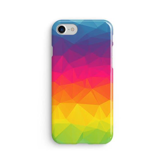Pattern polygon geometric rainbow  iPhone X case - iPhone 8 case - Samsung Galaxy S8 case - iPhone 7 case - Tough case 1P050