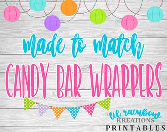 Made To Match Candy Bar Wrappers For Any Theme