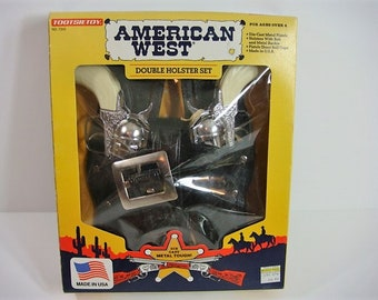 American West Double Holster Set Tootsie Toy Gun Set Double Holster Set
