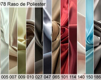 978 Polyester Satin Sample 6x10 CM