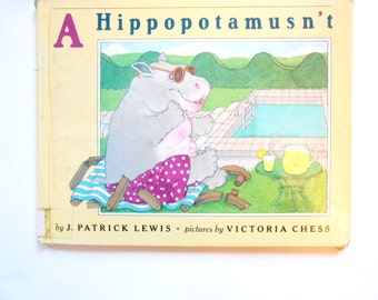 A Hippopotamusn't, a Vintage Children's Book, a Book of Animal Poems