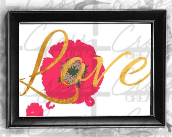 Love Digital Download Wall Art Print. 100% proceeds are to help Puerto Ricans!