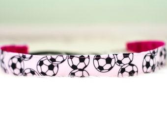 Soccer Nonslip Headband // No Slip - Nonslip - Soccer Ball - Bridget Bands - Team Headband - Gift