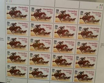 Cherokee Strip Land Run 1893 US Postage Stamps Sheet