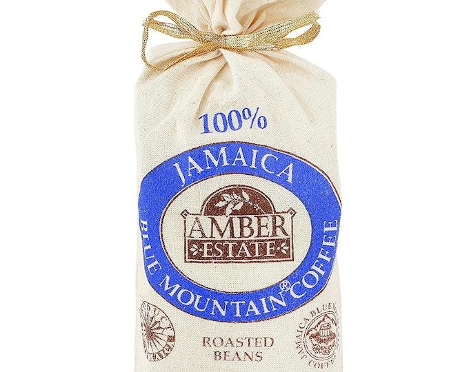 Ideal Gift Coffee Lover Jamaica Blue Mountain 8 oz (227g) Amber Coffee Bean 100%  Jamaica Blue Mountain Coffee Bean- Worl Best