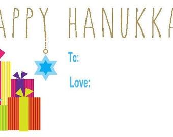 Hanukkah Gift Sticker Set