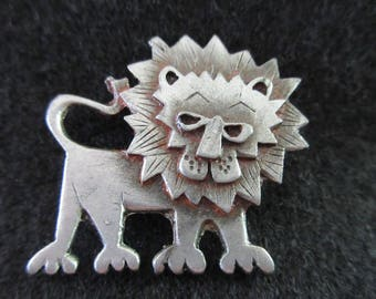 Vintage Pewter Lion Signed by Metzke