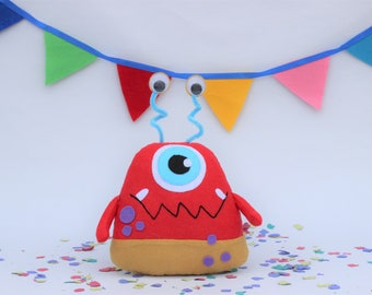 Plush monster toy, Stuffed Monster Toy, monster birthday, Little Monsters Party, Baby Monsters, cute monster plush