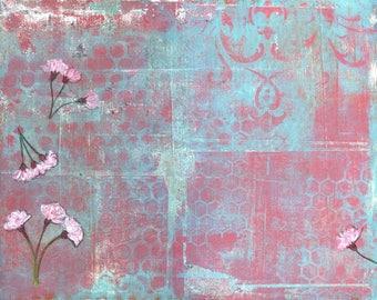 Willow bloom V- original mixed media on paper by Ingrid Blixt