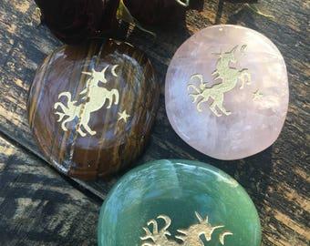 Unicorn Crystal, Spirit Stone, Palm Stone, Unicorn Love