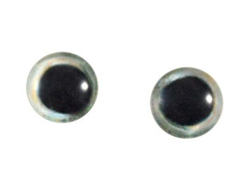 10mm Fish Glass Eyes - Round Skipjack Tuna Eyes - Pair of Glass Eyes for Doll, Sculpture, Taxidermy or Jewelry Making - Set of 2