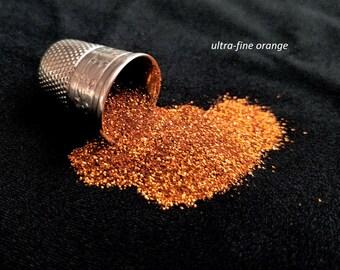 glitter - orange ultra-fine polyester