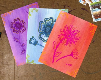 Flower Power 5x7 Postcard 3 Pack