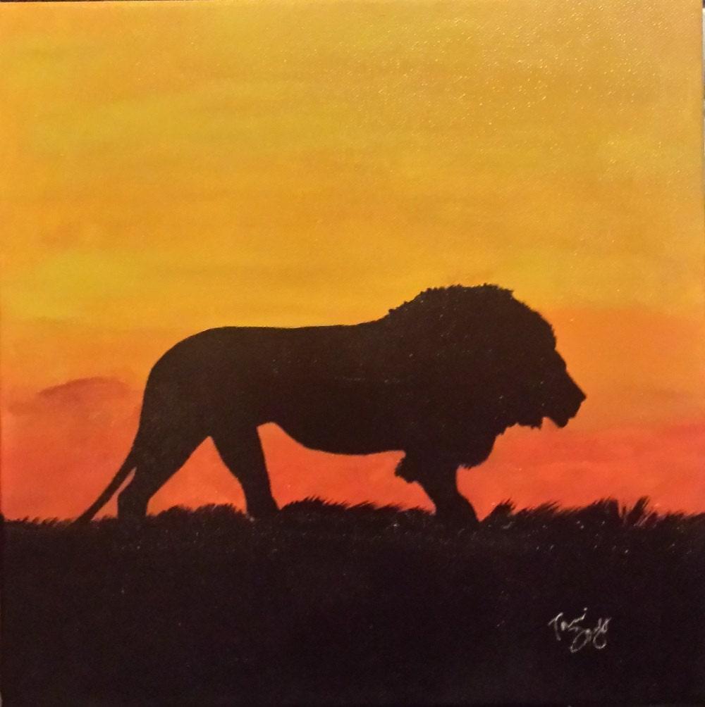 Sunset Animal art Animal silhouette Sunset wildlife art