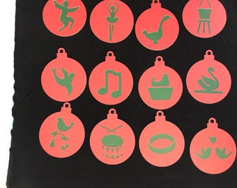 The 12 days of Christmas Ornament tags