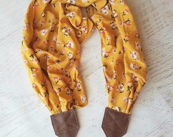Floral camera strap, camera accessories, photographer gift, scarf camera strap, photography accessories, nikon  strap, canon, DSLR strap