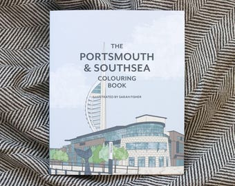 Portsmouth Southsea Colouring Book 80 Page For Grownups Hampshire UK Mindfulness