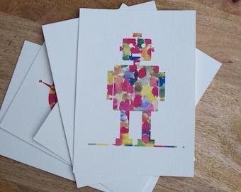 Watercolor Robot Print