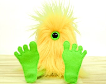 Nervous Nelly Plush Monster Toy- Yellow