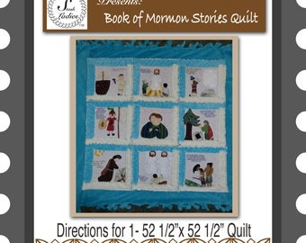 Digital Pattern:  Book of Mormon Scripture Quilt