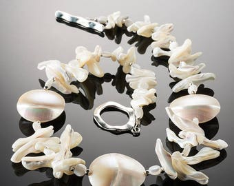 Shell (pewter clasp) - 18.5 inches