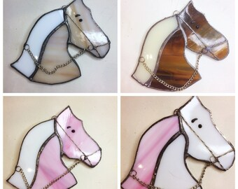Stained glass horse, pony, rider's gift, horse suncatcher, pony mad
