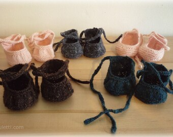 Ballet Wraps - a 'dollyknit' (PDF) knitting pattern by luletti