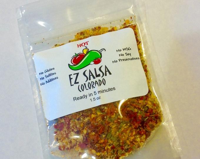 Paleo friendly HOT EZ Salsa.  Organic. Vegan friendly. No preservatives. Gluten Free no Soy