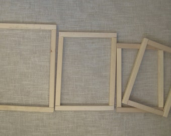 4 Wood Stretcher Bars Assorted Sizes - Needlepoint, Quilting, Stitching - Used