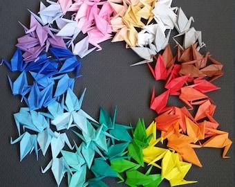 Small cranes, Origami cranes Paper cranes Wedding cranes Origami Wedding backdrop 100 Handmade Small Origami Paper Cranes - 20 colors