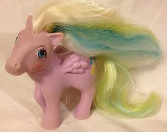 Vintage G1 My Little Pony *Curly Locks* Brush 'N Grow Pegasus Pony 1984
