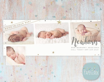 Newborn Facebook Timeline - Photoshop Template - HB002 - INSTANT DOWNLOAD