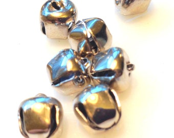 Silver Tone Jingle Bells - Gypsy Belly Dancer Bells 10MM and 20MM  8 Bells Total