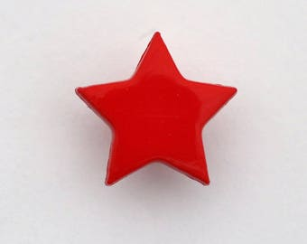 Star tail 14 mm x 6 buttons: Red - 001658