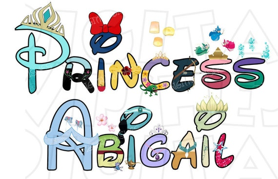 disney letter font any name or phrase disney princess text font digital iron on 2602