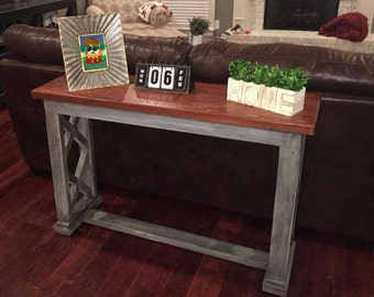 Foyer Table Distressed : Foyer table etsy