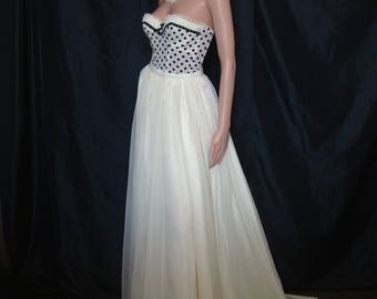 Skirt long unbleached muslin - custom wedding