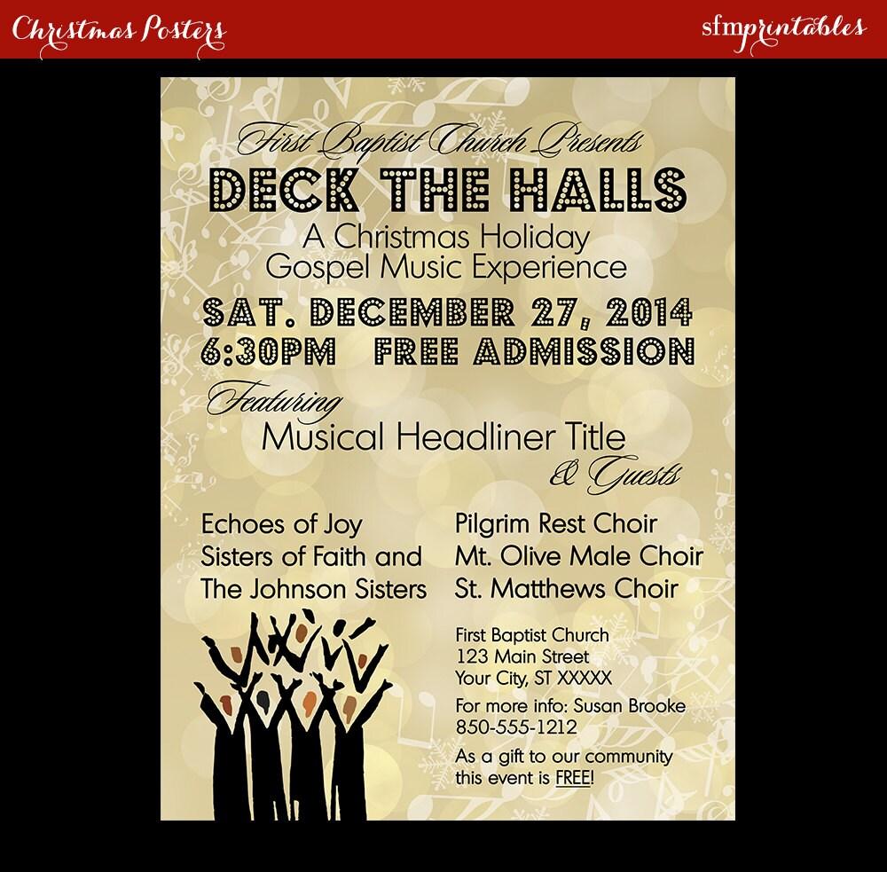 Gospel concert invitation poster flyer choir church music zoom stopboris Gallery