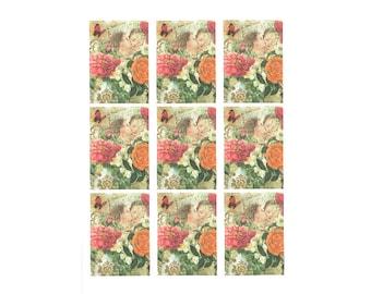 Valentine Card, Valentine Print, Valentine Gift Tags, Valentine Hang Tags, Valentine Tags, Angels and Roses, Decoupage Paper, Scrapbook