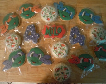 Ninja Turtle Cookies - 1 dozen