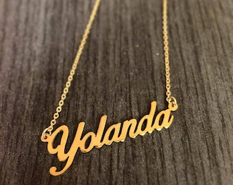 Gold Name Necklace - SALE Dainty name necklace - 18K Gold Filled Name Necklace - Choose any name to personalize  Gifts name Jewelry necklace