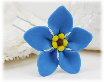 Forget Me Not Hair Clip Pin - Forget Me Not Hair Flower