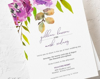 Peony Love - Wedding Invitations (Style 13764)