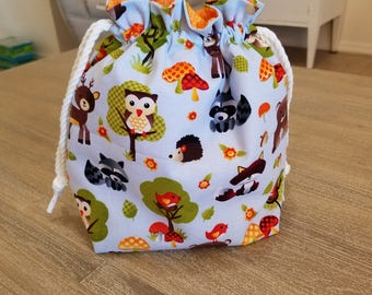 SALE Knitting Project Bag, Project Bag, Crochet Project Bag