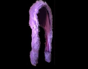 Single Color Faux Fur Hood
